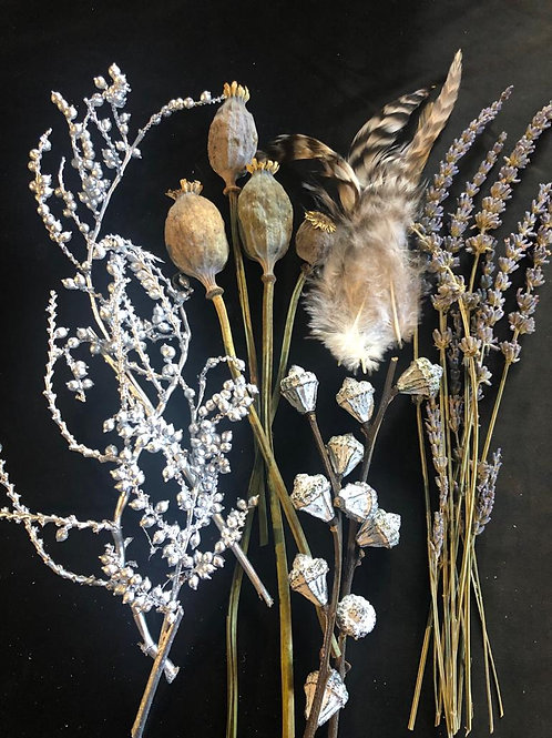 Extras for Wreath Making - Greys & Silvers