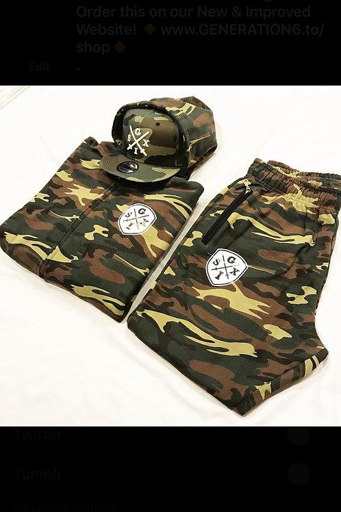 G6 Camo Jumpsuit + Snapback Combo