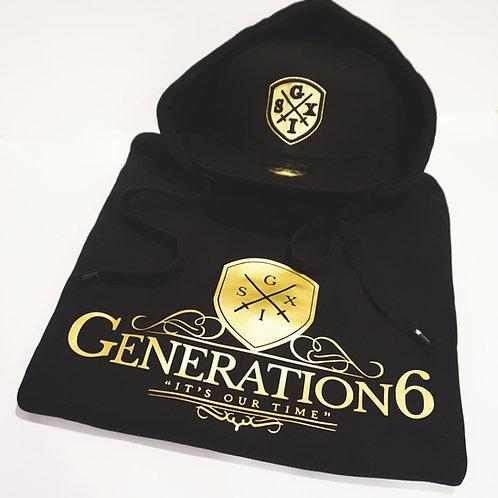 Gold/Black G6 Hoodie + Snapback Combo
