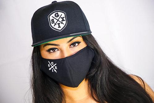 Black/White G6 Mask + Snapback Combo