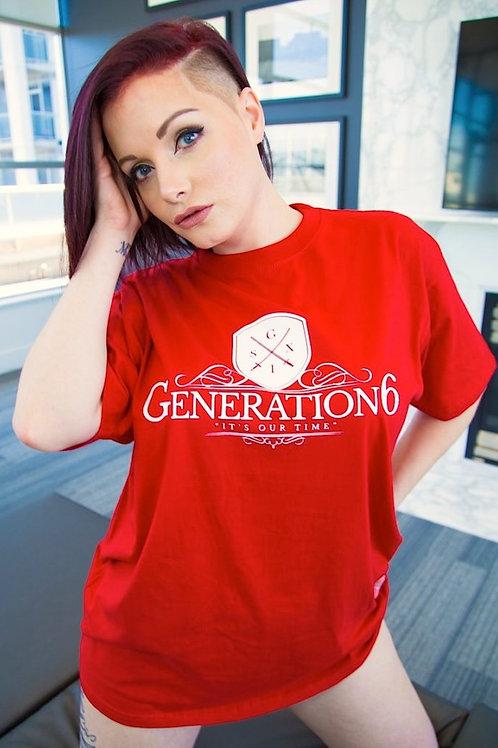 Women's Red G6 Tee