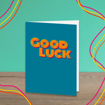 Funky Good Luck Card