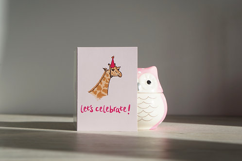Party Giraffe - Occasion Card
