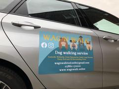 Wag'N'Walk Car Magnet