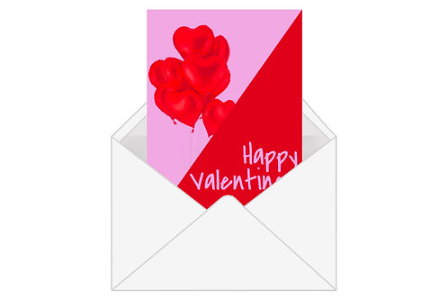 E-Card Heart Balloons