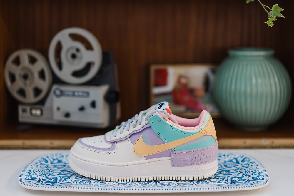 Pastel colourful Nike Air Max bridal shoe