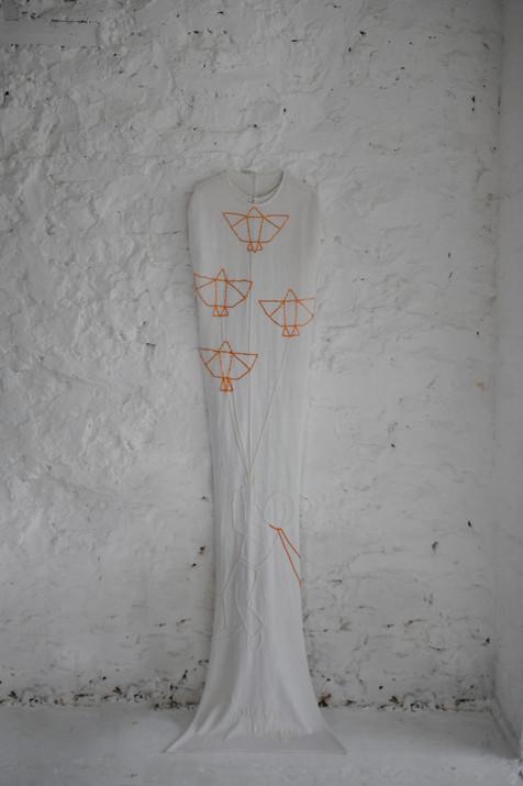 embroidered bridal cape