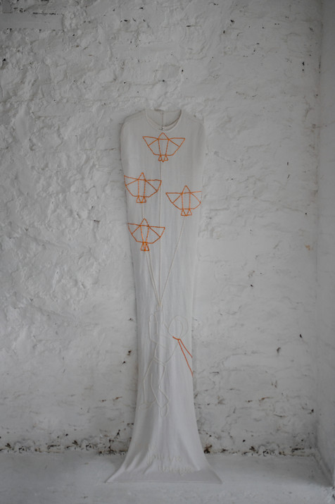 embroidered bridal cape