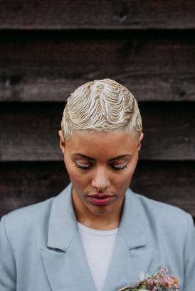 LGBTQ bride 20s hair style