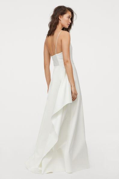 long satin dress bride bridal wear h&m