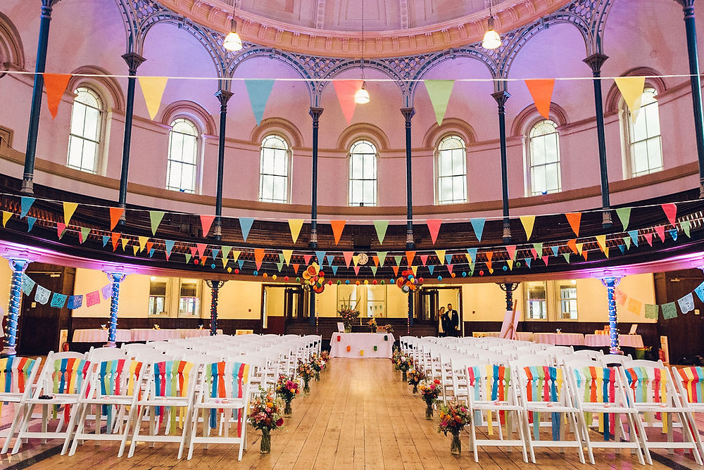 colourful wedding fiesta mexican bunting