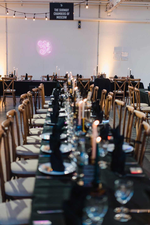urban alternative wedding tables
