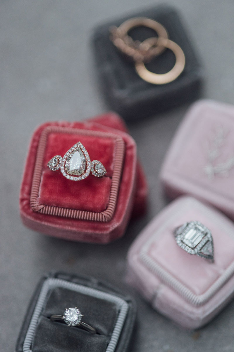 Velvet ring box DIY tutorial wedding bride groom