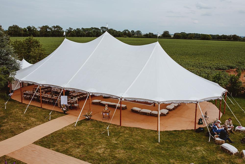 Garden wedding sperry tent marquee