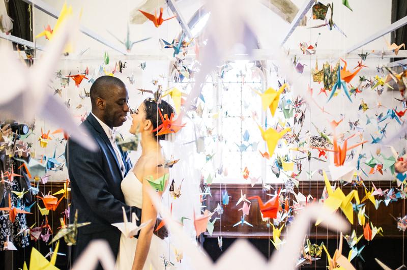 paper cranes origami wedding ceremony wedding planner