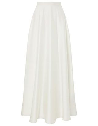 long maxi skirt bridal satin white monsoon