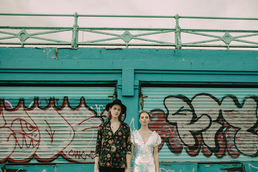 Brighton Elopement Bride and Groom Image Chloe Mary Photo