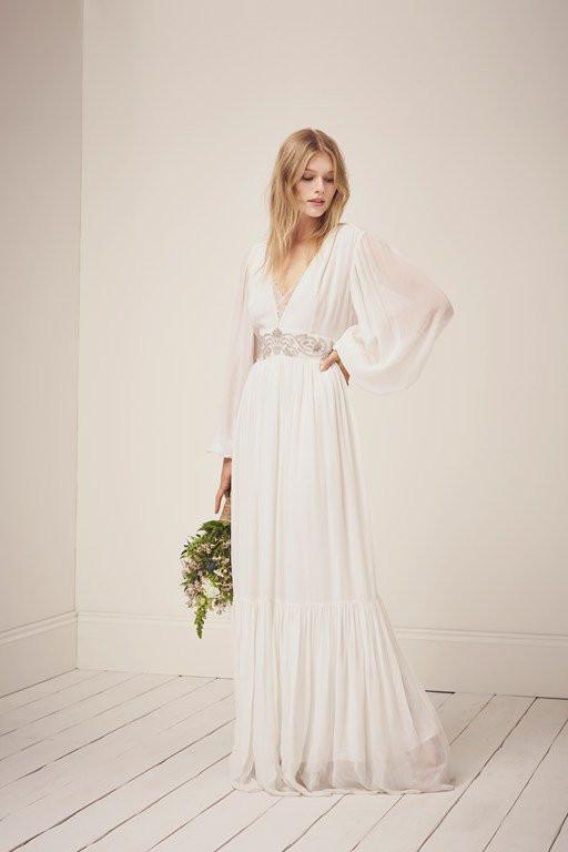 sparkle vintage maxi dress wedding bride bridal gown french connection
