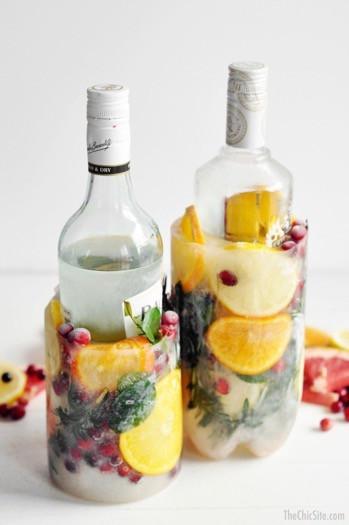 Winter berry icy buckets frozen fruit wedding inspiration diy decor
