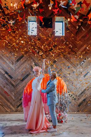 confetti shot wedding dance