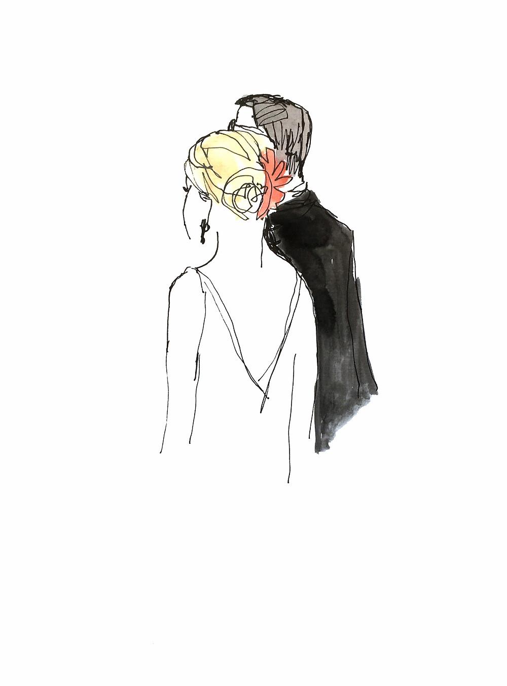 Wedding entertainment illustration event art house of love