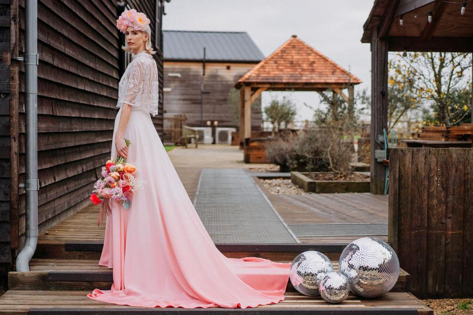 lgbtq bride ombre wedding dress