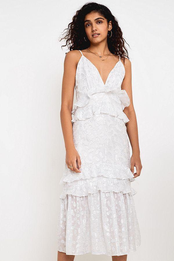 tiered ruffle dress bridal bride wedding gown