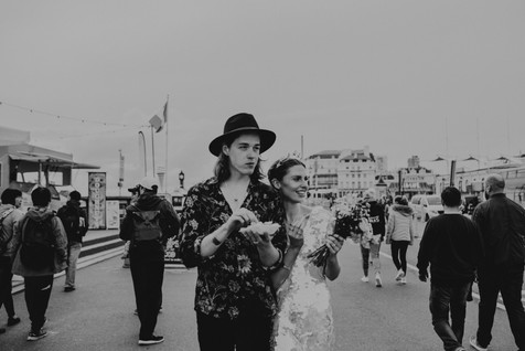 Bride and Groom Brighton elopement Chloe Mary Photo