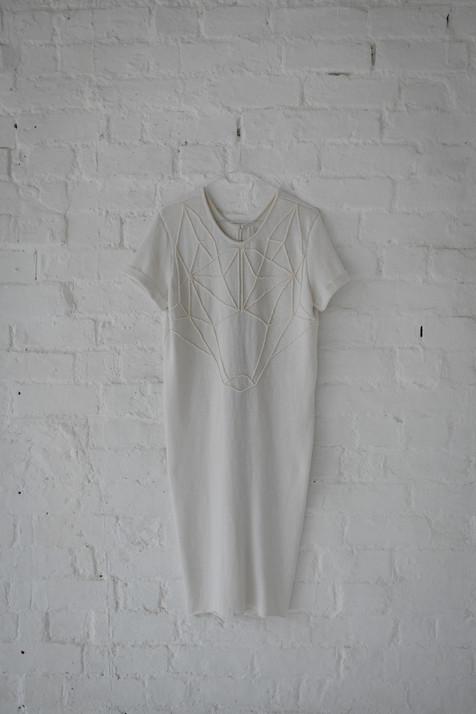 minimalist short bridal gown