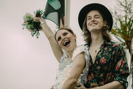 Unique wedding bride and groom. Image Chloe Mary Photo.