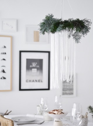 chandelier diy handmade wedding decor lighting foliage