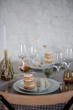vegan wedding favours minimalist table