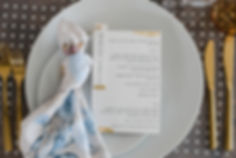 gold leaf statinery pri kruijen studio modern minimalist wedding menu