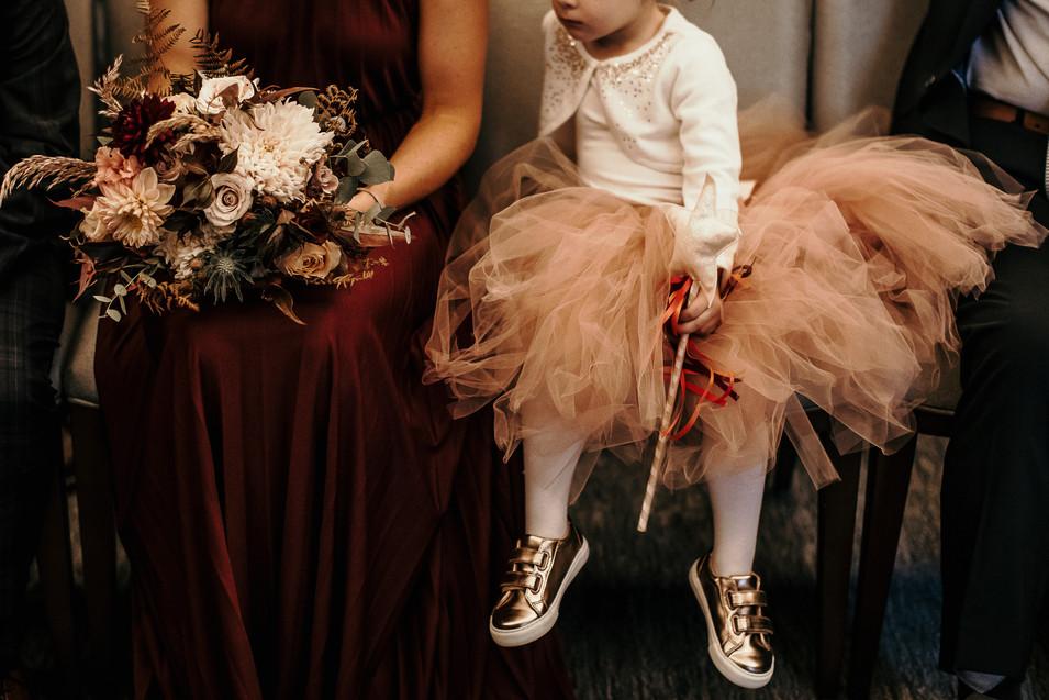 Bridesmaid tutu and trainers
