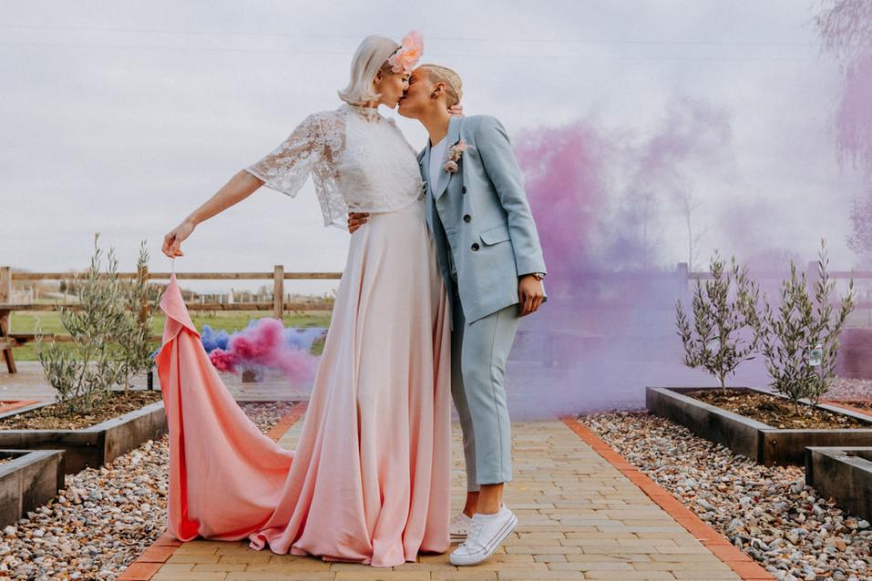 lgbtq boho wedding shoot