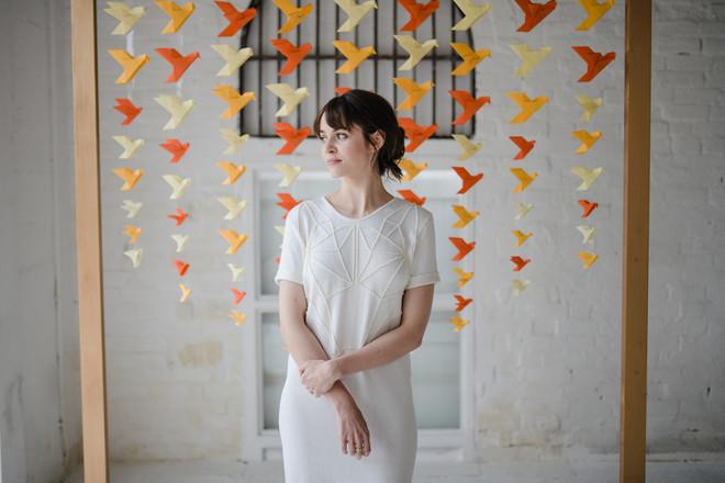 origami bird wedding backdrop
