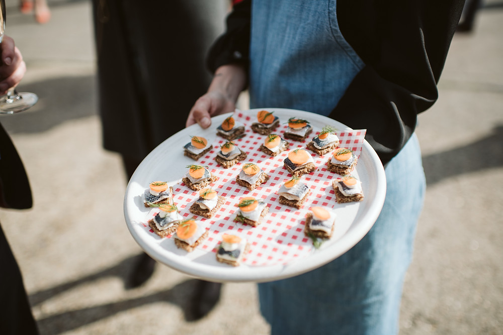 Fun Thyme Canapes wedding food jump the broom on the day coordination