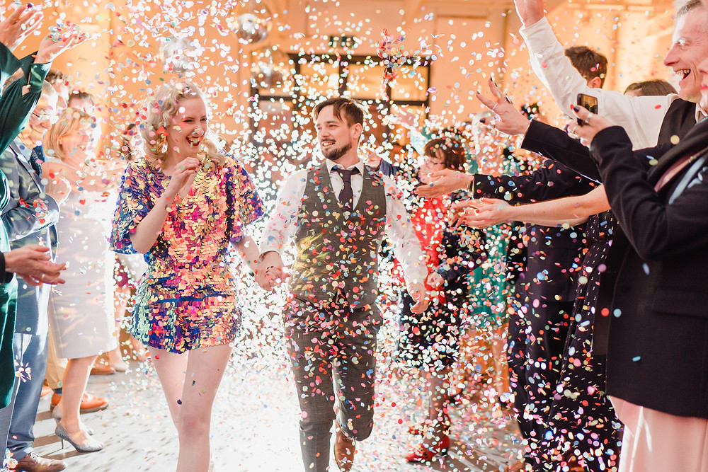 glitter confetti and sequin jumpsuit
