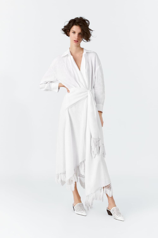 fringe alternative bridal wear wrap dress