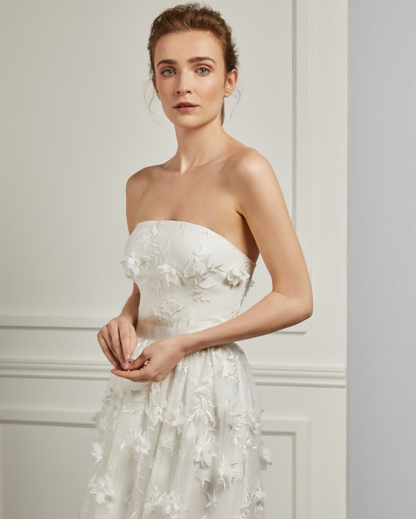 3d embroidery gown white dress bridal elegant ted baker