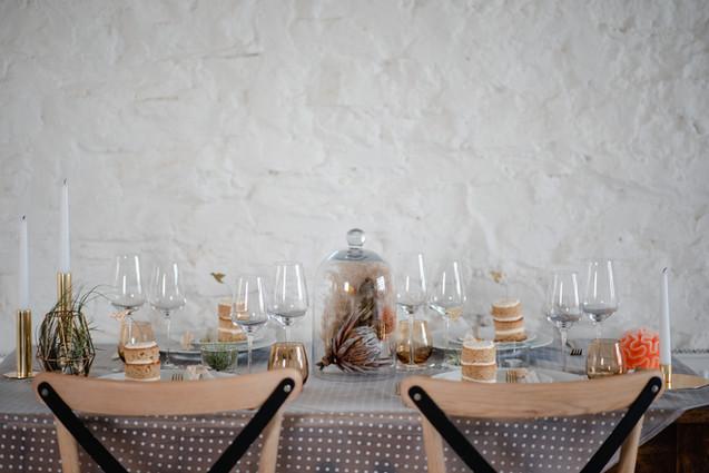 ethical minimalist wedding table styling