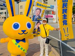 7月6日(火) 宮崎駅前にて辻立ちを行いました