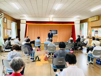 「長友しんじ座談会開催」は、5月27日桜ヶ丘地区(千代が丘公民館、桜ヶ丘公民館、)2会場で、コロナ対策をしっかり行って実施されました。
