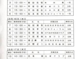 延岡市議会一般質問の日程が決まりました