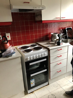 Supply and Fit new four hob cooker to apartment Property Repair Guys 365