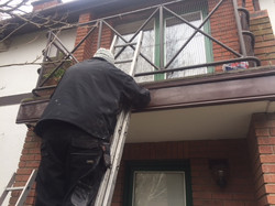 Fitting new facia UPVc coverings to balcony Property Repair Guys 365