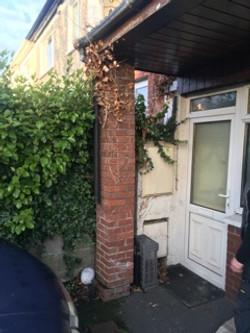 Property Repair Guys Damage to brick pillar prior to works