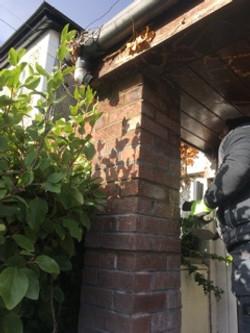 Property Repair Guys 365 Repaired brick pillar