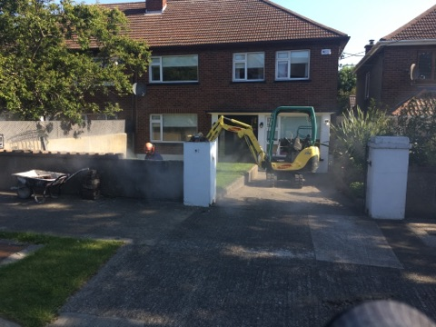 Property Repair Guys 365 Drive way preparation for expansion