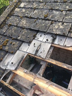 Property Repair Guys 365 Roofing removal of old perished slates and capping slates
